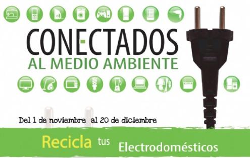 En noviembre vuelve la campaña 'Conectados al Medio Ambiente' para promover el correcto depósito de aparatos eléctricos y electrónicos fuera de uso (RAAE)