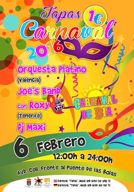 cartel tapa carnaval arrecife 2016