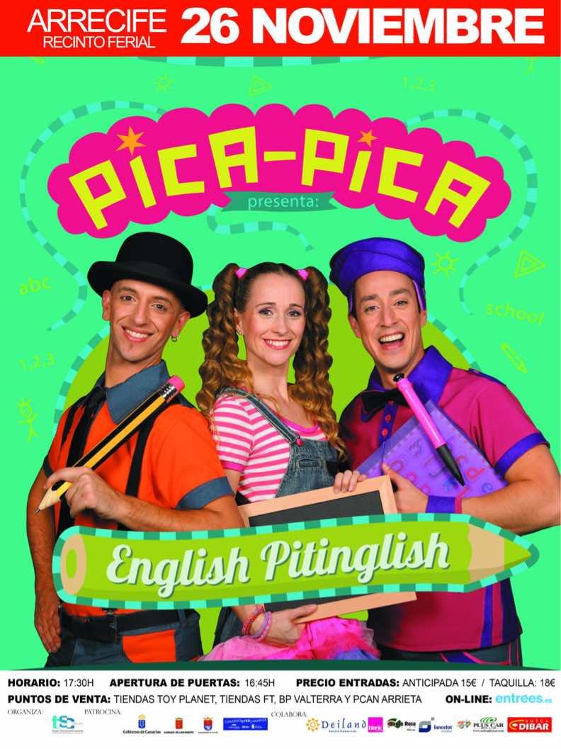 Ya están a la venta las entradas para el espectáculo English Pitinglish del Grupo Pica Pica.