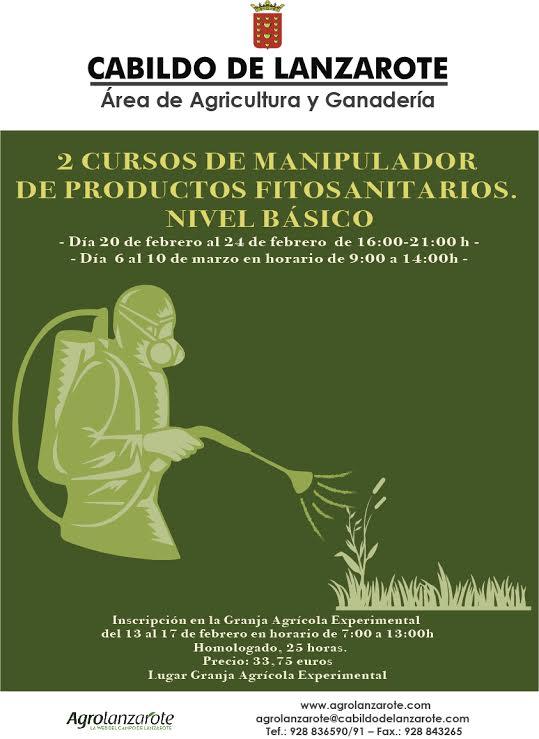 El Cabildo de Lanzarote organiza otros dos nuevos cursos homologados de manipulador de productos fitosanitarios