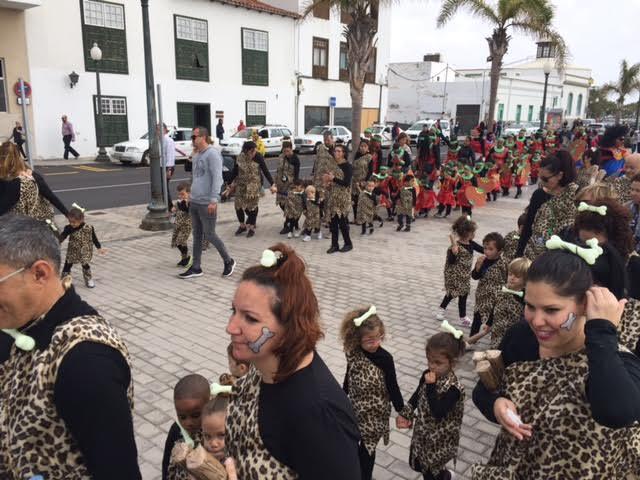 Más de 550 niños participan mañana en el Carnaval Escolar alrededor del Charco de San Ginés y la Calle Real
