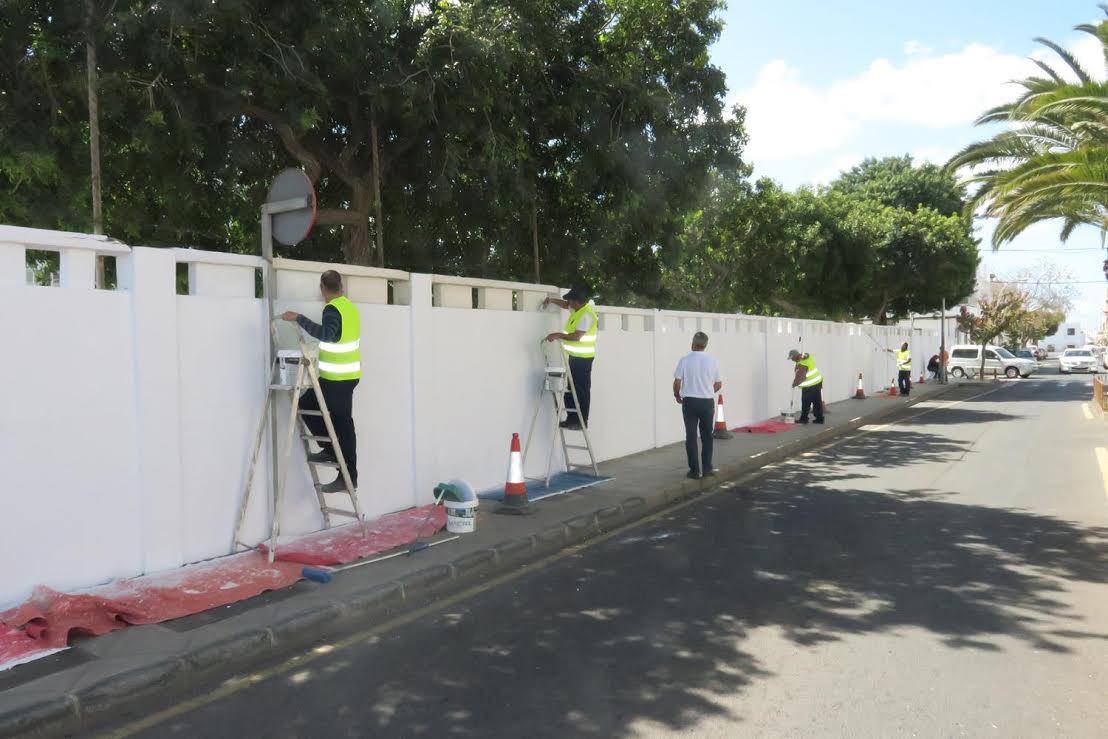 El Ayuntamiento de Arrecife lleva a cabo un plan de mejora y embellecimiento de la ciudad