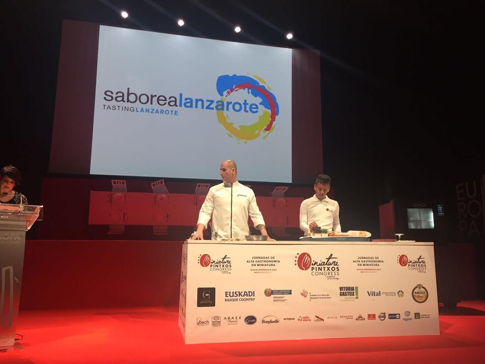 Saborea Lanzarote, presente en el 'IV Miniature Pintxos Congress' celebrado en Vitoria