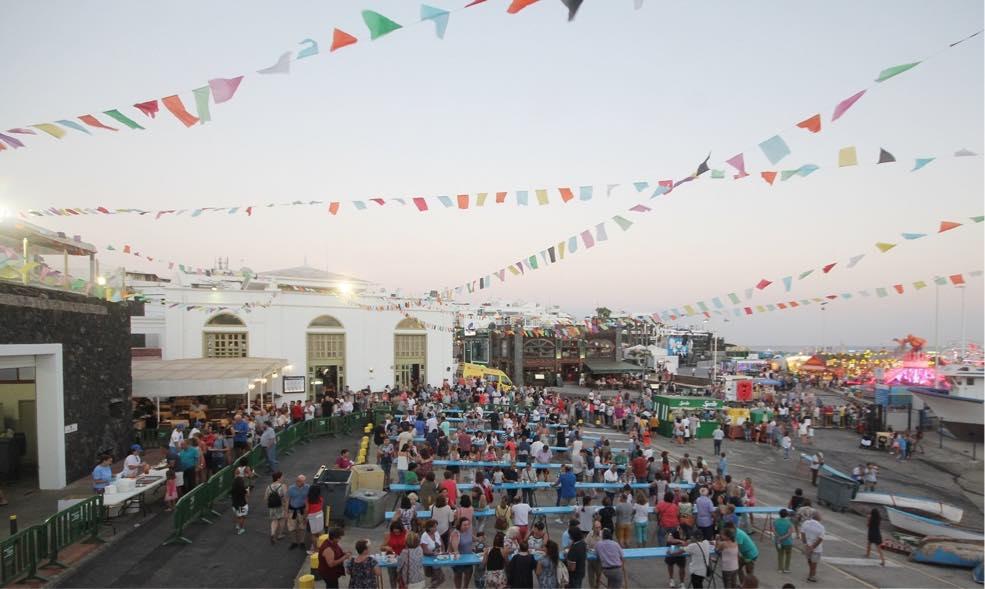 El sancocho de La Tiñosa bate un récord y se degustan más de 3000 raciones en las fiestas de Puerto del Carmen