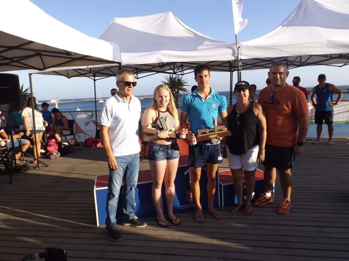 Alejandro Candela y Leah Williams ganadores de la Travesía a Nado San Ginés – RCNA