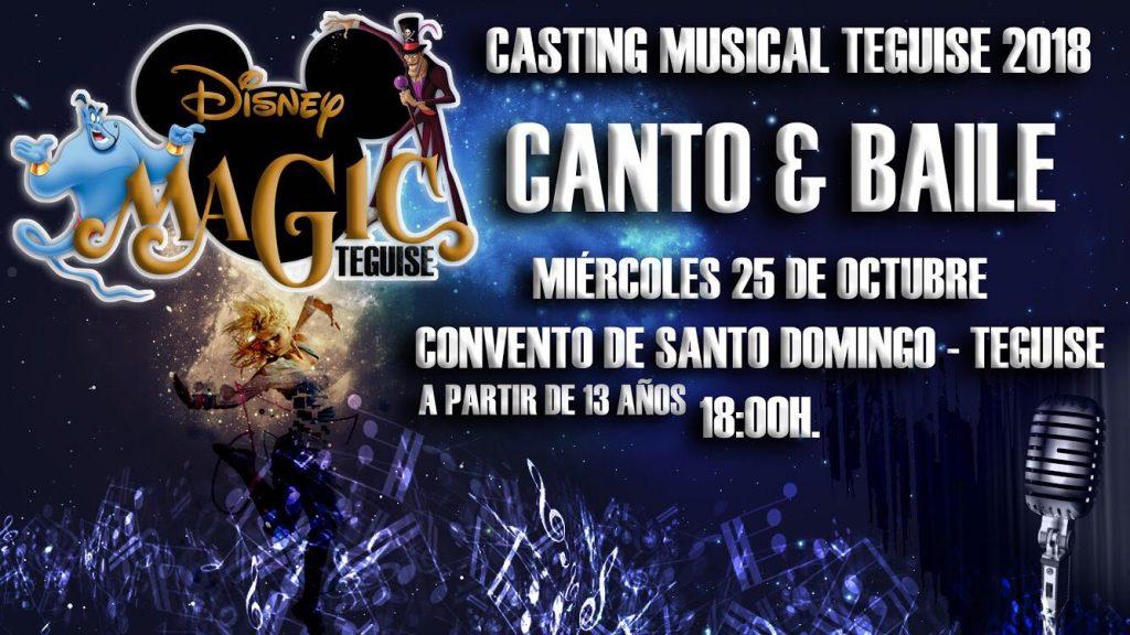 Teguise busca cantantes y bailarines para su próximo musical de Disney