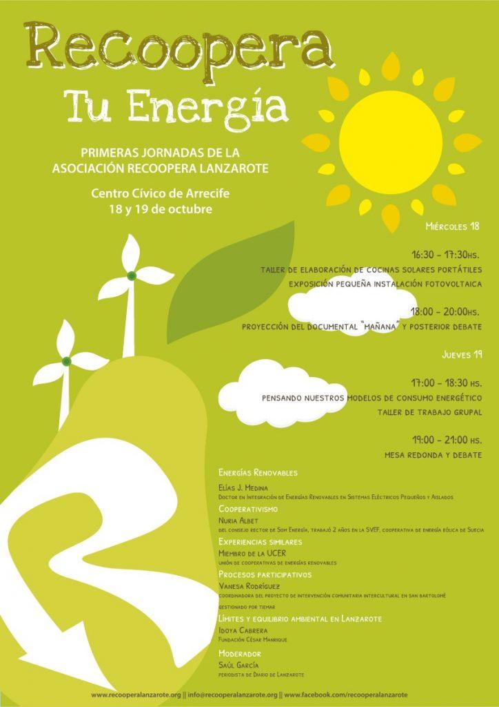 """""""Recoopera tu energía"""",  I Jornadas de la Asociación Recoopera Lanzarote"""