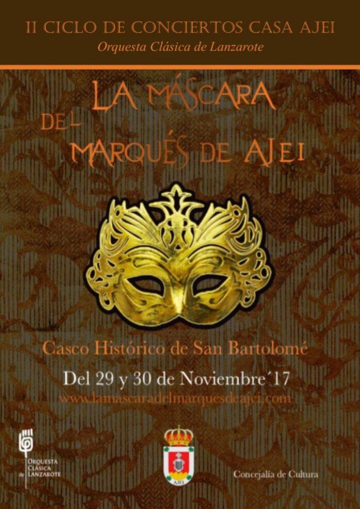 El proyecto didáctico «La máscara de Ajei» ofrece un espectáculo de música, teatro e historia entrelazo todo  por la Orquesta Clásica de Lanzarote