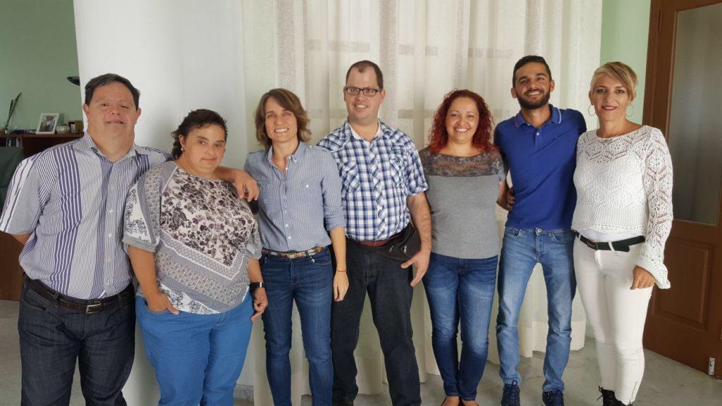 La Asociación para Personas con Discapacidad de Lanzarote (Adislan) visita el Ayuntamiento de Arrecife