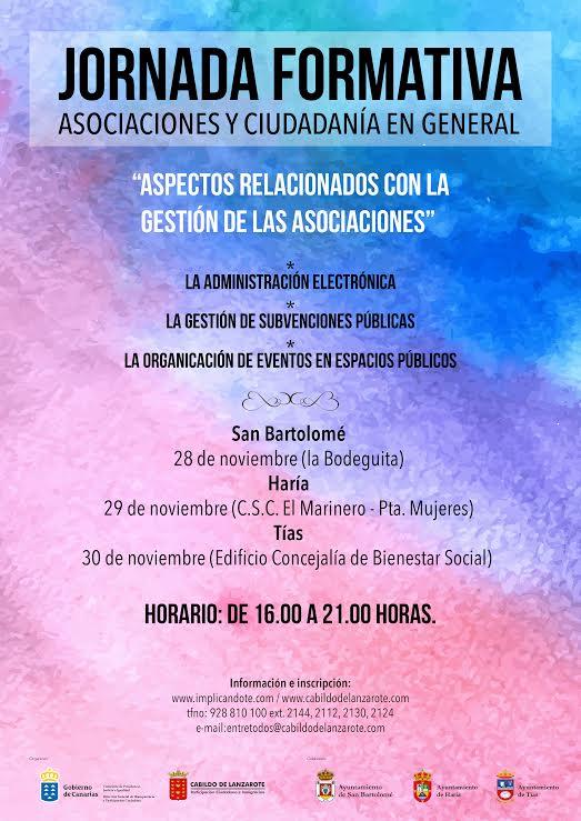 El Cabildo de Lanzarote organiza una jornada formativa centrada en la gestión de las asociaciones