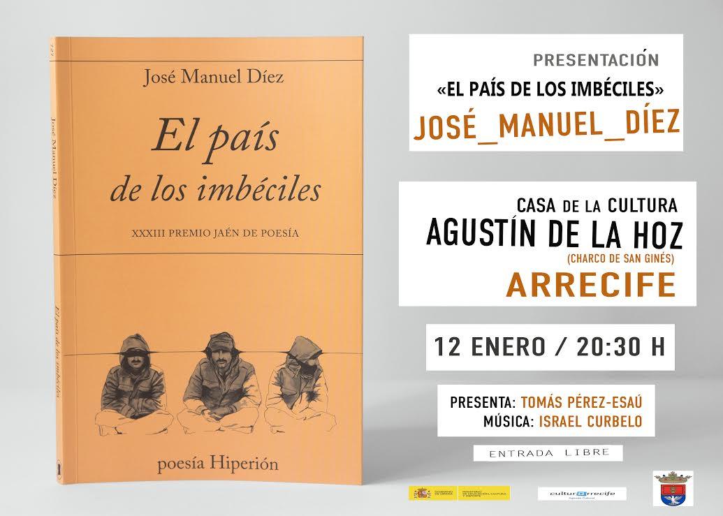 José Manuel Díez presenta su nuevo libro de poemas en Lanzarote