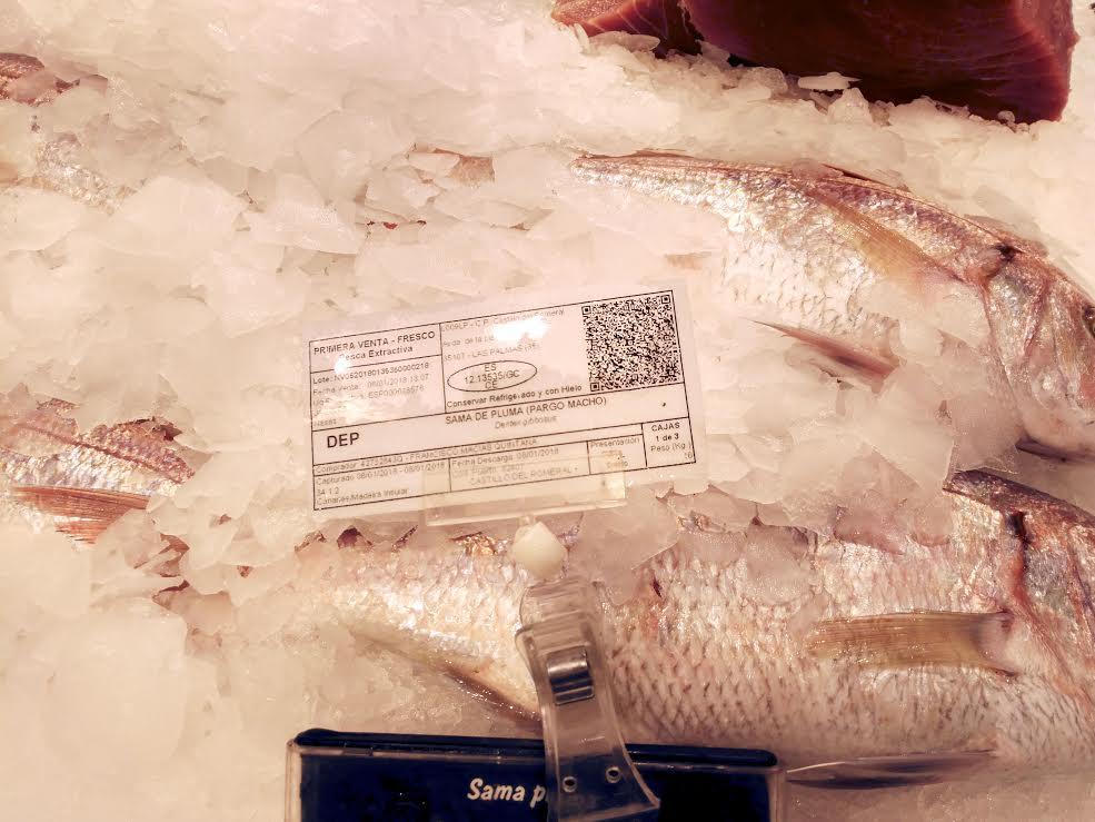 Una nueva etiqueta permite conocer el origen del pescado en los 36 puntos de primera venta de Canarias