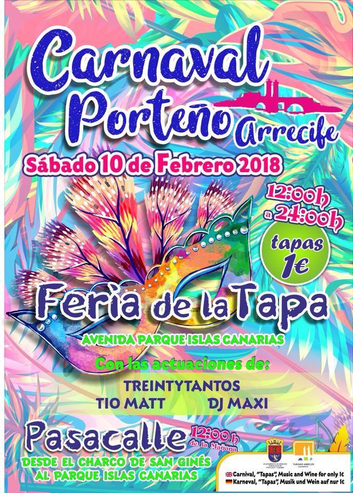 Este fin de semana Arrecife celebra la Final del Concurso de Murgas Adultas, Carnaval Porteño y Fiesta Infantil