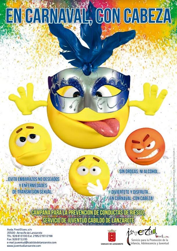 El Cabildo de Lanzarote lanza la campaña 'En Carnaval, con cabeza' para la prevención de conductas de riesgo en adolescentes y jóvenes