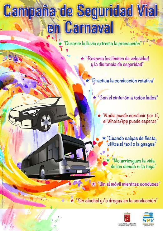 El Cabildo lanza una campaña para insistir en las ventajas del uso de los transportes públicos en carnavales