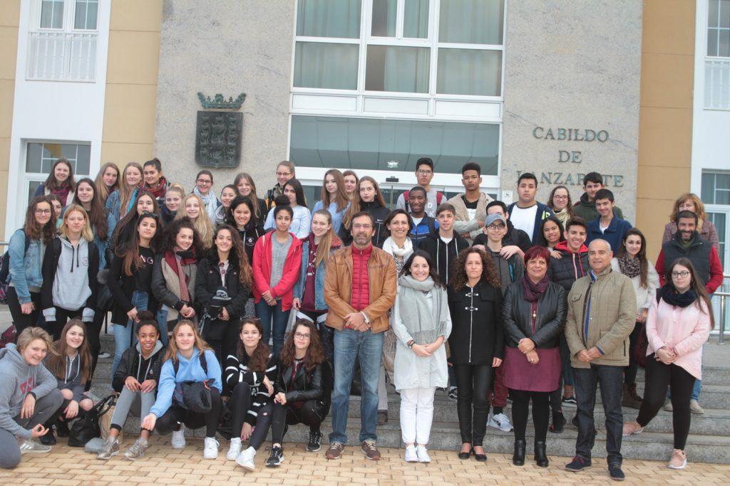 El Cabildo de Lanzarote recibe la visita de un grupo de alumnas del Instituto de Rosenheim, de la región alemana de Baviera