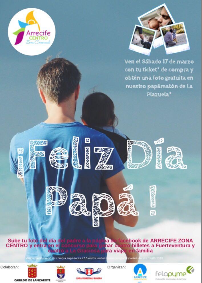 El Ayuntamiento de Arrecife colabora con la campaña del 'Día de Padre' de la Asociación Arrecife Zona Cero