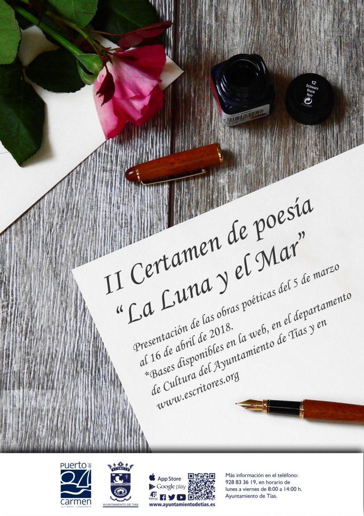 El 16 de abril finaliza el plazo para presentarse al II Certamen de Poesía La Luna y el Mar, organizado por Cultura de Tías