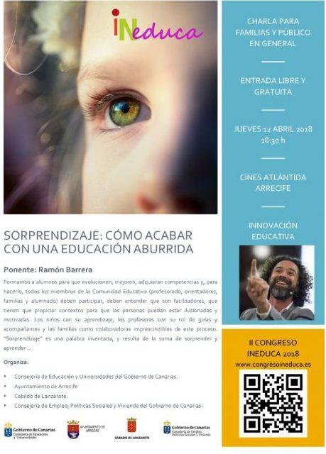 Arrecife acoge la charla 'Sorprendizaje: Cómo acabar con una educación aburrida'
