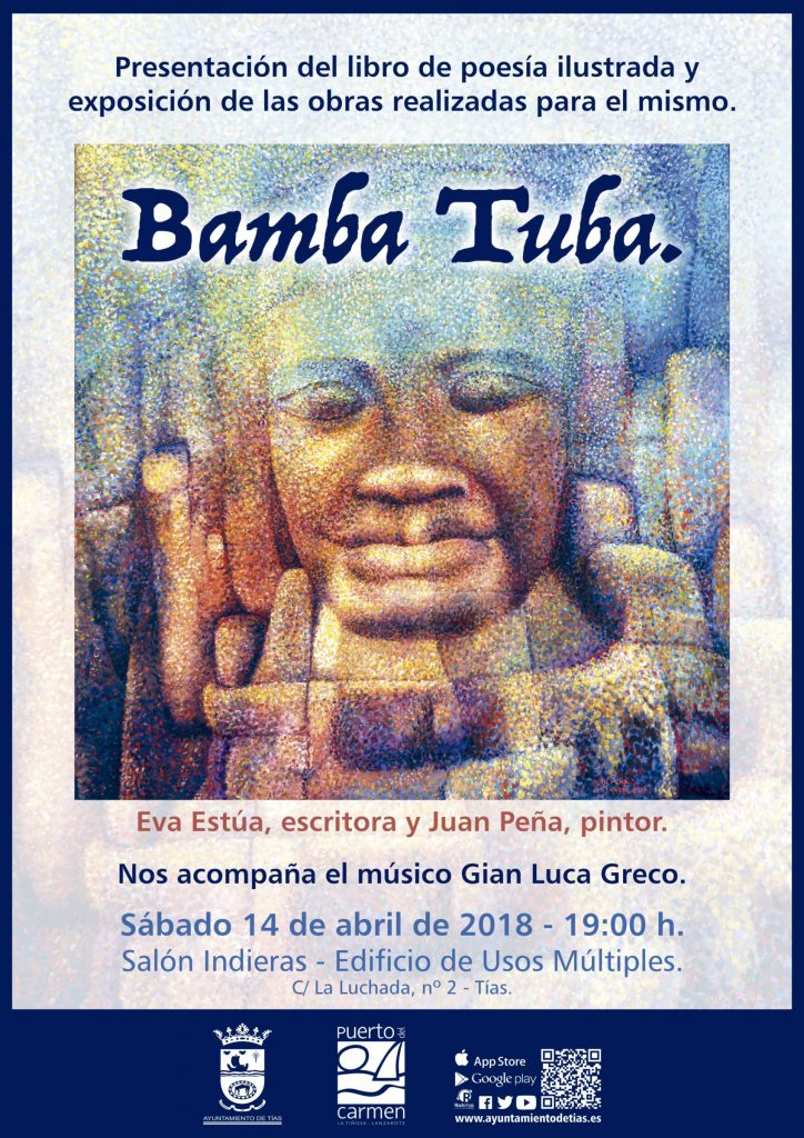 Este sábado se presenta en Tías el libro de poesía ilustrada 'Bamba Tuba', de Eva Estúa