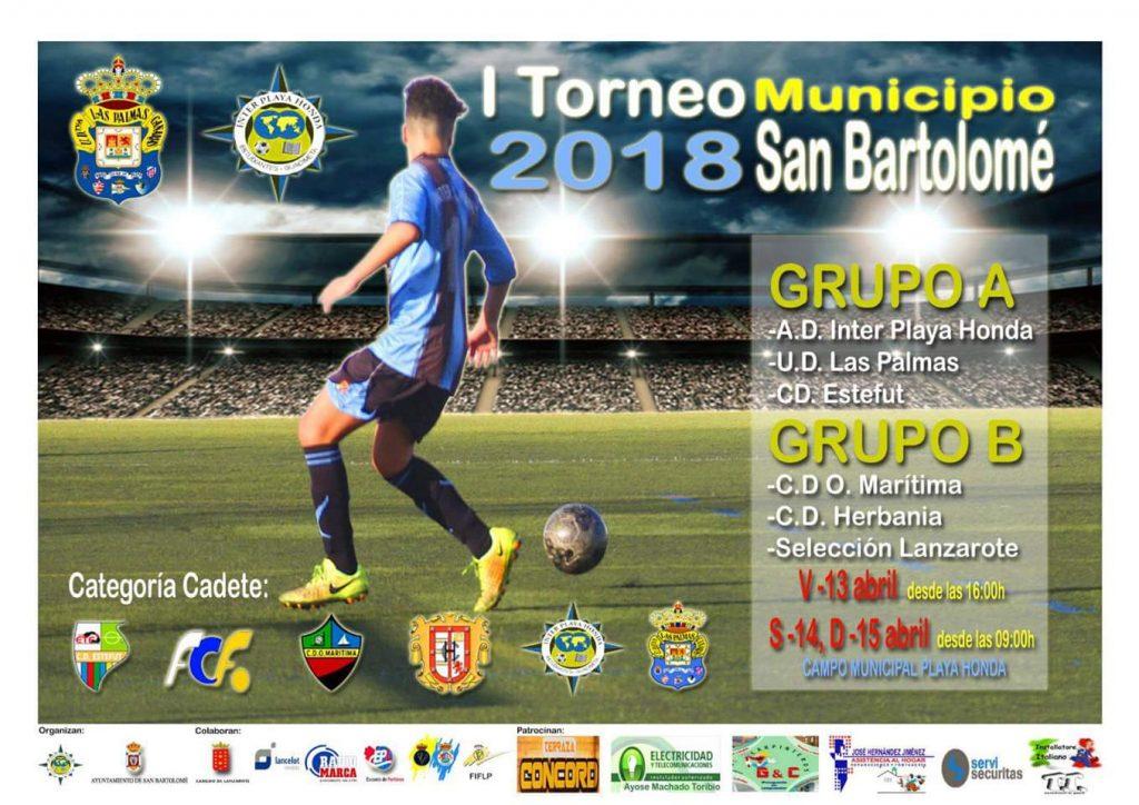 """Este fin de semana se disputará el """"I Torneo Cadete Municipio de San Bartolomé"""" en el Campo de Fútbol de Playa Honda"""