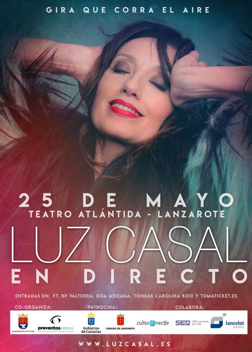 El concierto que Luz Casal dará en Lanzarote se traslada al Teatro Atlántida de Arrecife