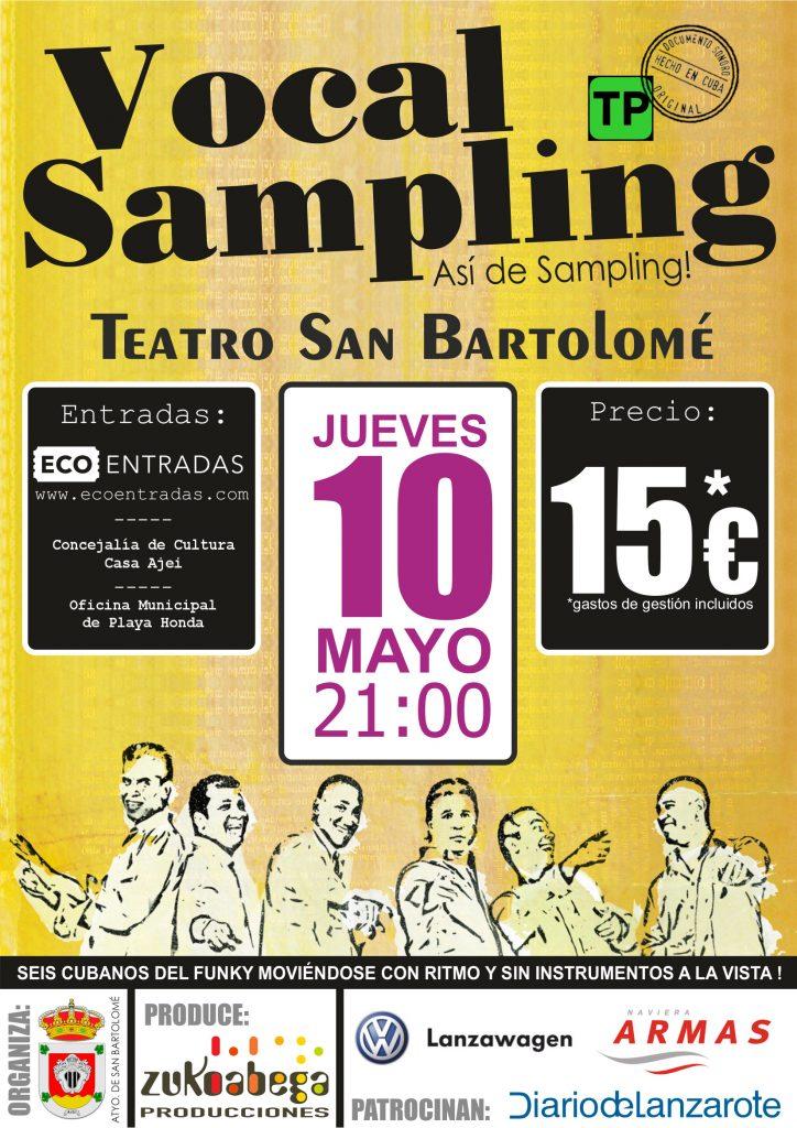 Vocal Sampling en el Teatro de San Bartolomé mañana  jueves 10 de mayo a las 21.00 horas