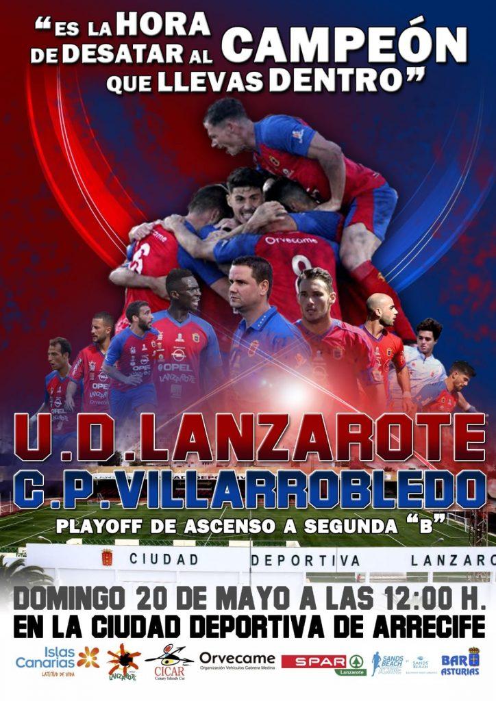 El partido UD Lanzarote – Villarrobledo se jugará el domingo a las 12:00 horas
