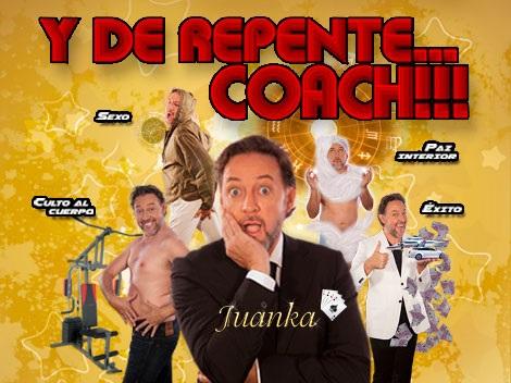 El actor cómico Juanka representa en el Teatro de Tías su show como coach