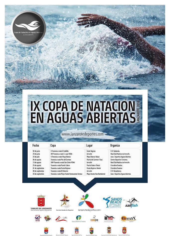 La 'IX Copa de Natación en Aguas Abiertas', promovida por el Cabildo de Lanzarote, arranca mañana sábado con la 'XI Travesía a Nado El Jablillo'