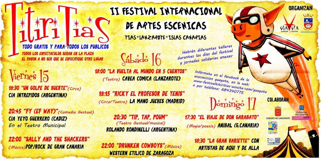 Tías vive un animado fin de semana en la plaza El Pavón con las actuaciones del Festival Titiri Tías