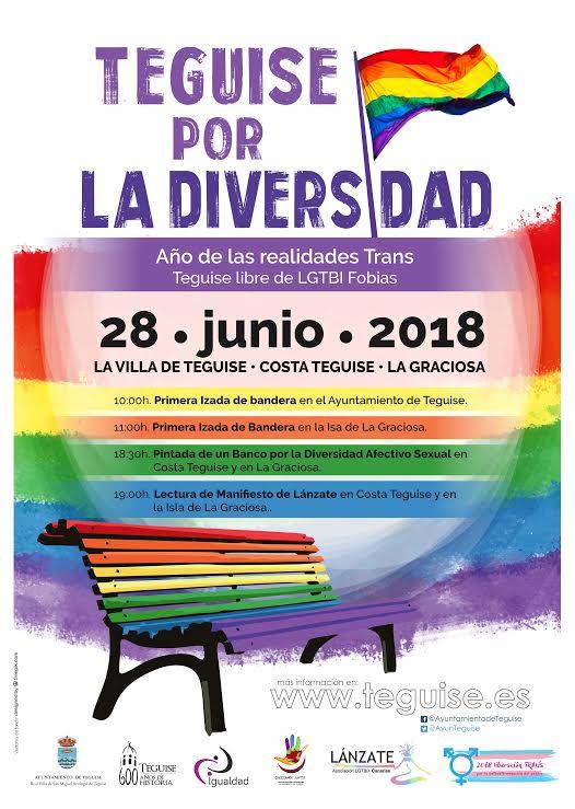 Teguise apuesta por la diversidad en la celebración de la jornada del orgullo LGTBI+