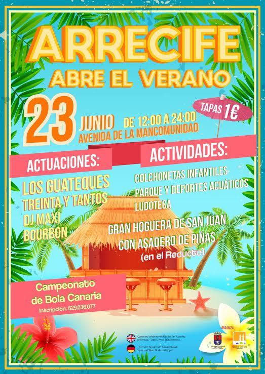 Arrecife abre el verano con juegos tradicionales, Feria de la Tapa, exposición de fotografías y hoguera de San Juan