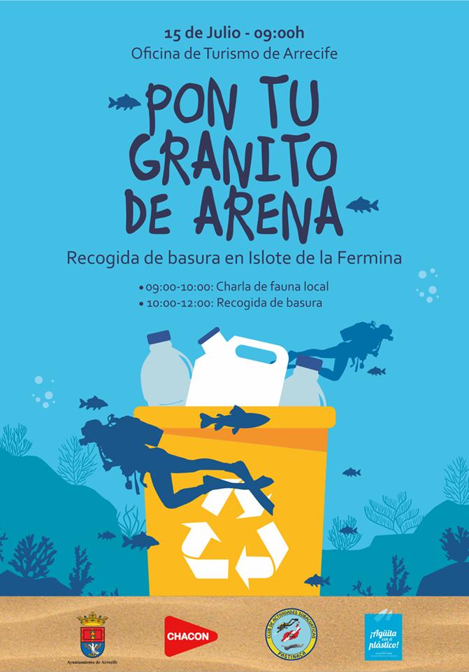 Arrecife te invita a 'Poner tu granito de arena' a favor del Medio Ambiente
