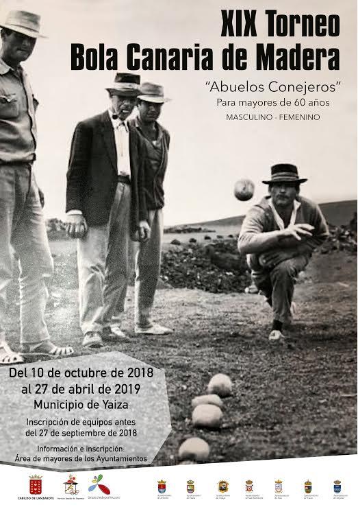 El XIX Torneo de Bola Canaria de Madera 'Abuelos Conejeros' se celebrará entre el 10 de octubre y el 27 de abril en el municipio de Yaiza