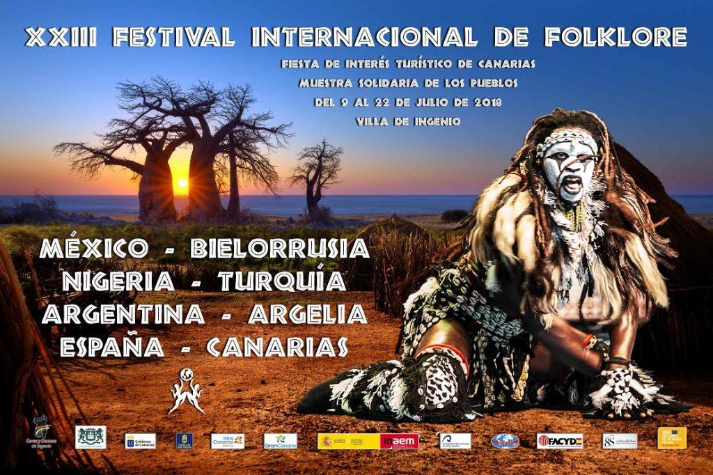 México, Bielorrusia, Nigeria, Turquía, Argentina, Argelia y España, países participantes en el XXIII Festival de Folklore de Ingenio