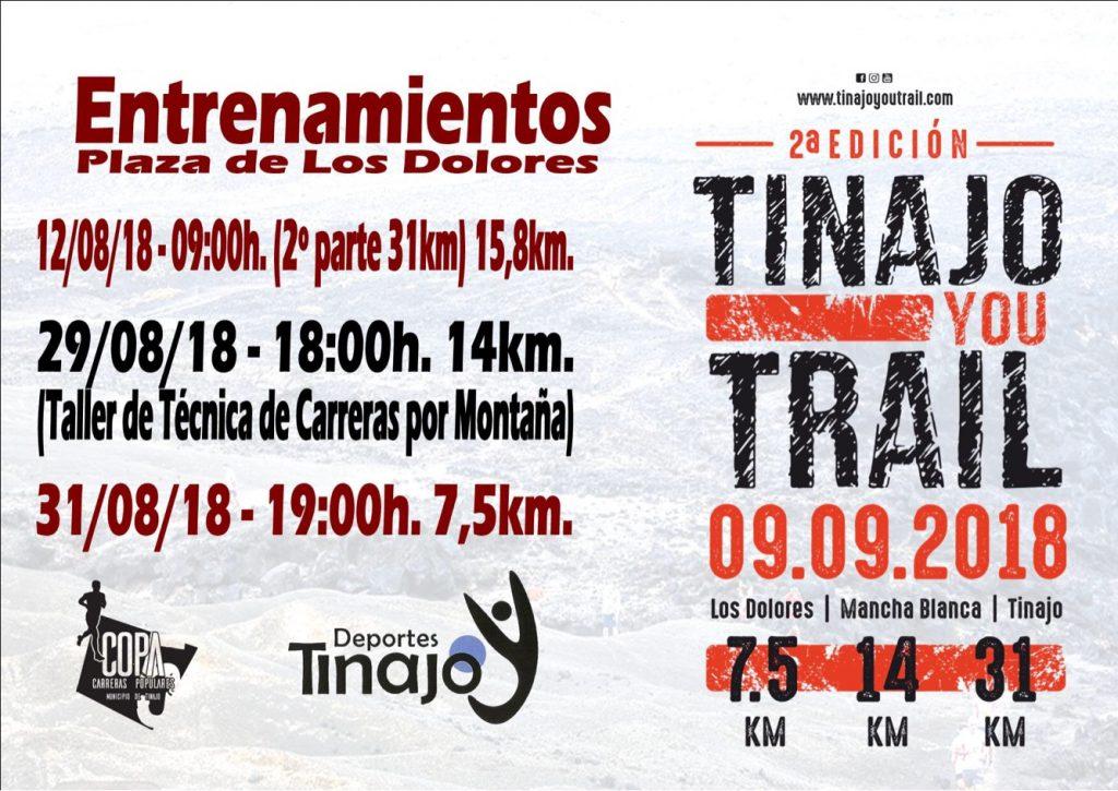 Últimos entrenamientos oficiales para conocer el recorrido de la Tinajo YouTrail