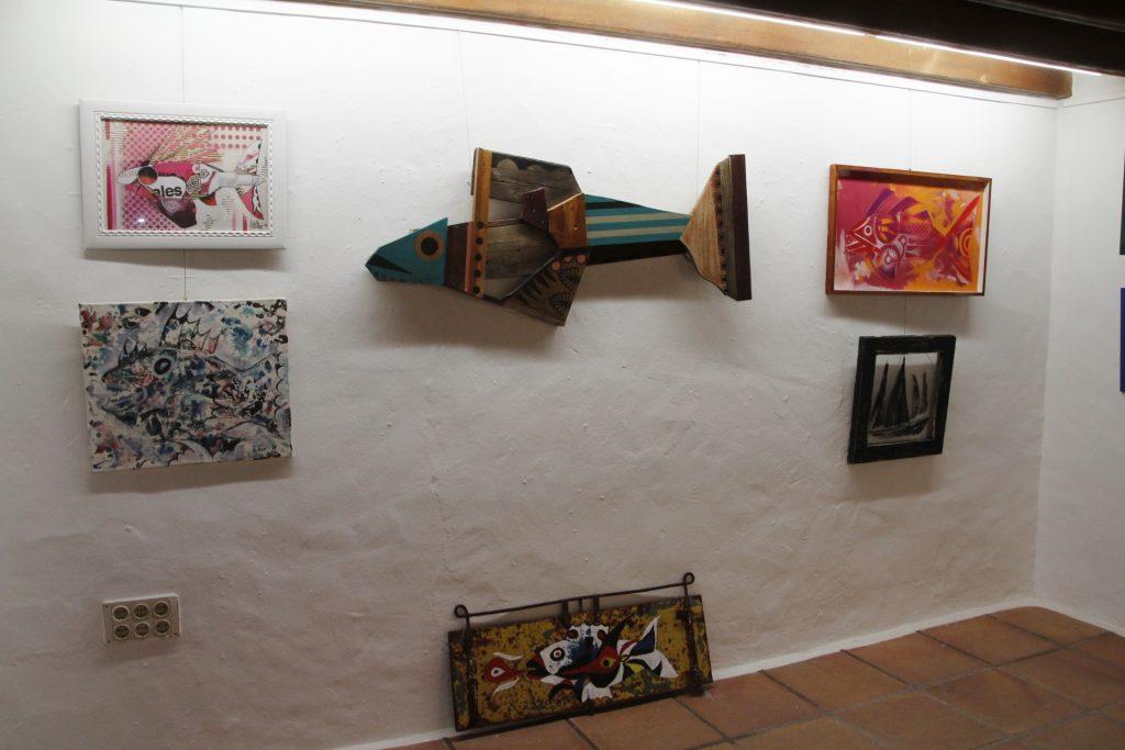Oleada creativa de peces y barcos en Yaiza
