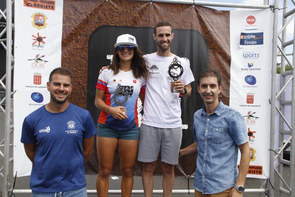 Albi Cedrés e Ildiko Biró, campeones absolutos de la 'IV Copa de Carreras por Montaña' organizada por el Cabildo de Lanzarote