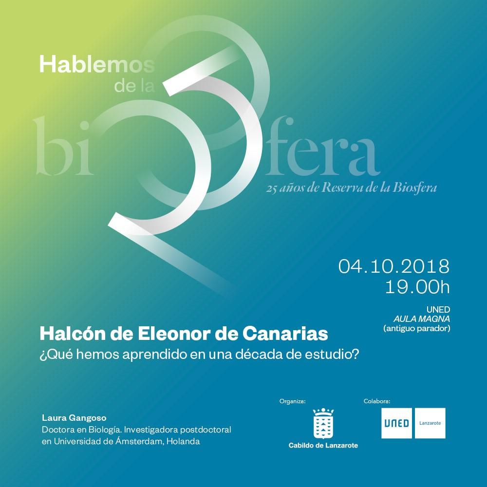 La Reserva de la Biosfera organiza una charla sobre el estudio del halcón de Eleonor de Canarias