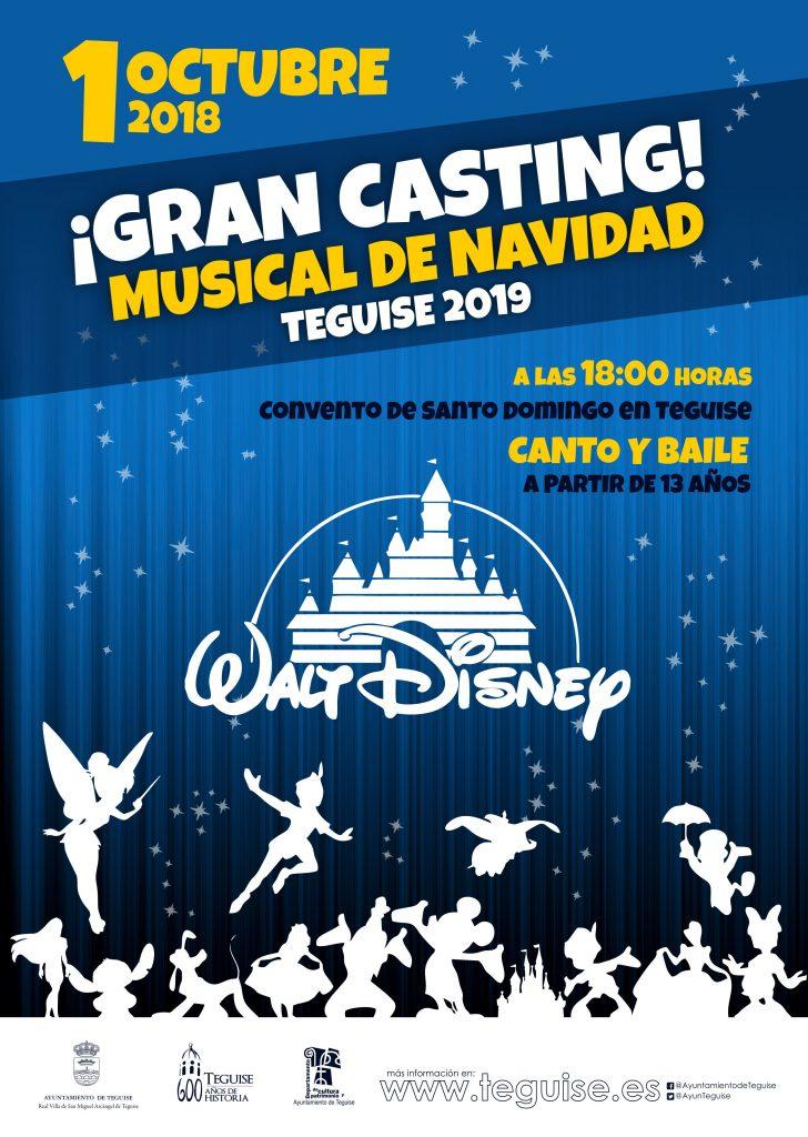 Teguise abre el casting para el Musical Disney de Navidad