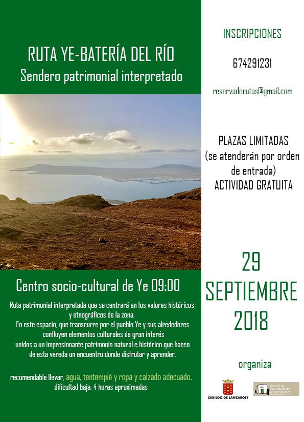 El Cabildo de Lanzarote organiza una nueva actividad de senderismo patrimonial interpretado por la ruta Yé – Batería Del Río