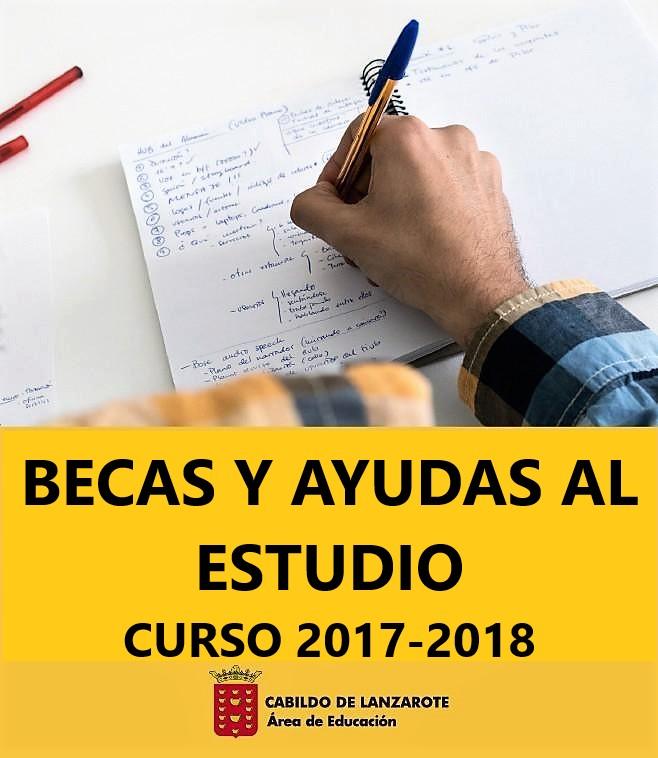 El Cabildo de Lanzarote publica el listado de subsanación de defectos de la convocatoria de becas y ayudas al estudio para el curso 2017-2018
