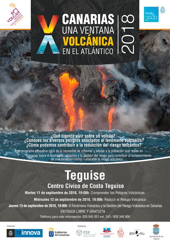El Centro Cívico de Costa Teguise acogerá tres jornadas del Instituto Volcanológico de Canarias sobre el peligro y la reducción del riesgo volcánico