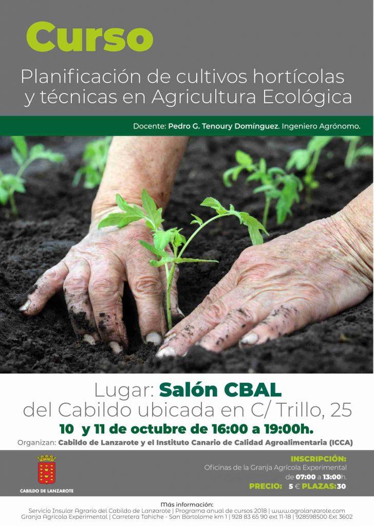 El Cabildo de Lanzarote organiza el curso 'Planificación de cultivos hortícolas y técnicas en agricultura ecológica'