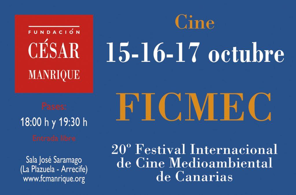 La Fundación César Manrique y el Festival Internacional de Cine Medioambiental de Canarias (FICMEC) organizan tres jornadas de proyecciones en la Sala José Saramago