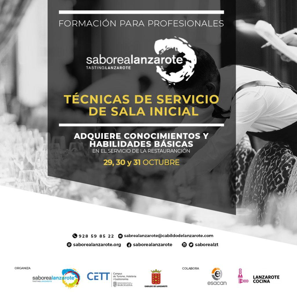 Cabildo y Saborea Lanzarote organizan un curso sobre 'Técnicas de Servicio de Sala Inicial', homologado por la Universidad de Barcelona