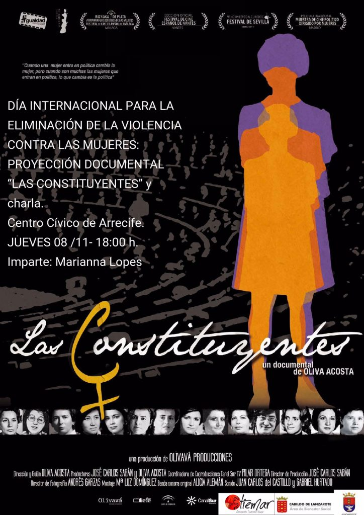 """Proyección del documental """"Las constituyentes"""", de Oliva Acosta, por el Día Internacional para la Eliminación de la Violencia contra las Mujeres"""