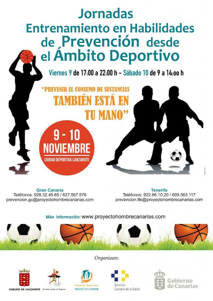 La Ciudad Deportiva Lanzarote acoge esta semana las jornadas 'Entrenamiento en Habilidades de Prevención desde el Ámbito Deportivo'