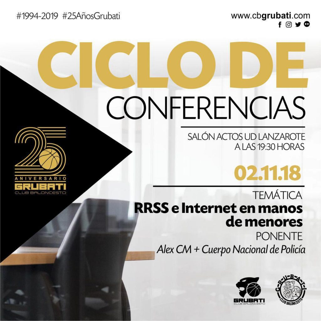 Las redes sociales tema de la conferencia del 25 Aniversario del CB Grubati